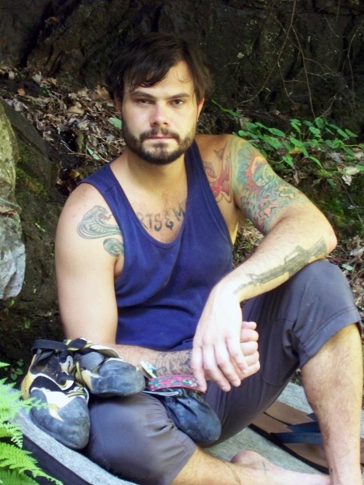 Nick Carpenter at Blue Hole Falls, Elizabethton, Tennessee. Photo: Sarah Conway.