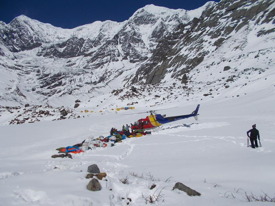 Packing up Base Camp. Photo: Mingma Sherpa.