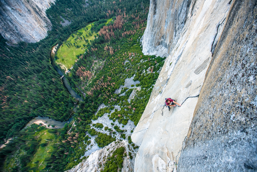 "Brad Gobright on <em>Zodiak</em> (5.7 C2 1,800 feet), El Cap, Yosemite. Photo: Cheyne Lempe."" title=""Brad Gobright on <em>Zodiak</em> (5.7 C2 1,800 feet), El Cap, Yosemite. Photo: Cheyne Lempe."" style=""float: right; margin: 0px 0px 10px 10px;"">    <b style="