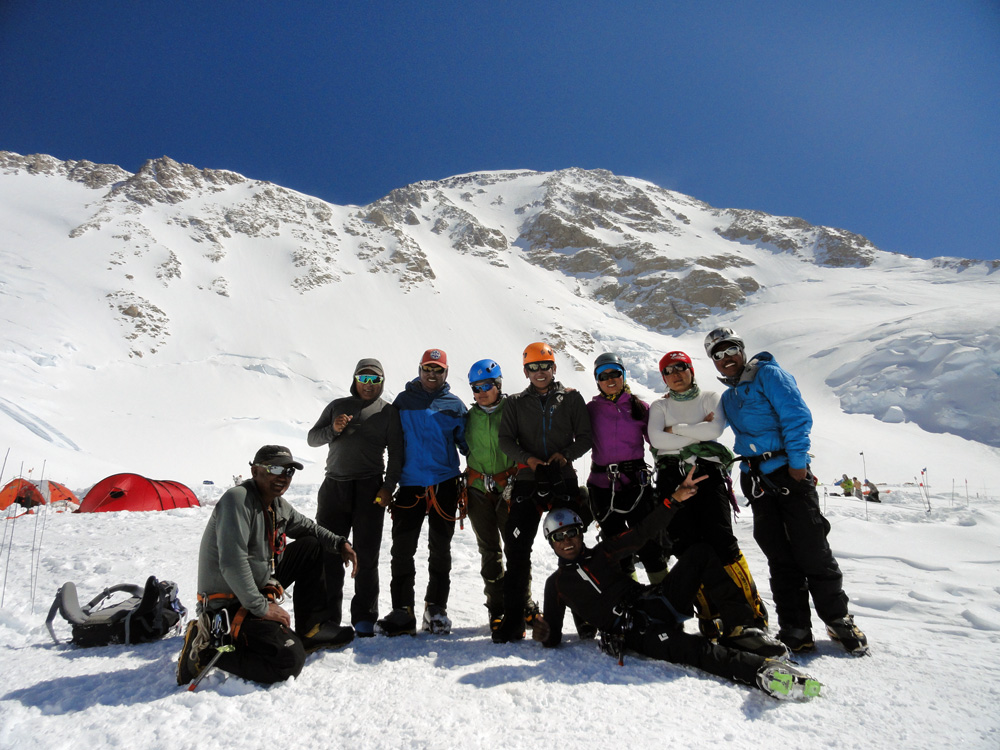 The nine Nepalese climbers of the