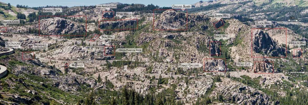Donner Summit and its wealth of walls. Photo courtesy Access Fund.
