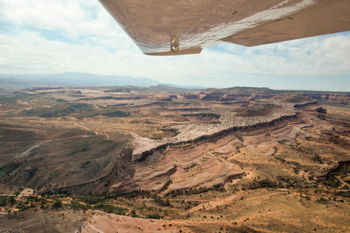 Another view from the plane. Photo: Seth Heller.