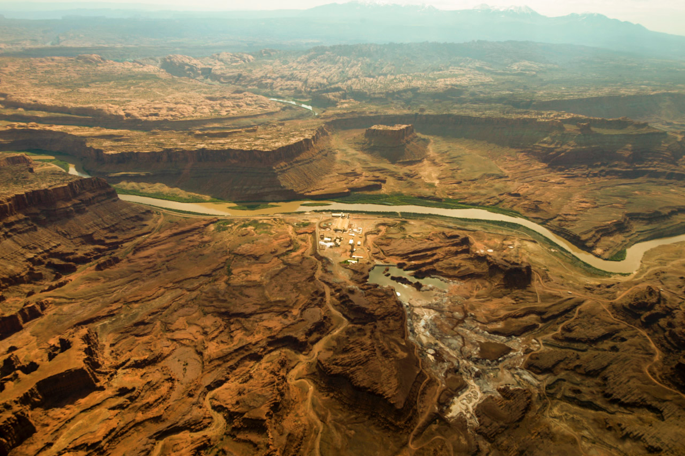Signs of industry already dot the vast landscape. Photo: Seth Heller.