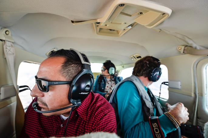 In the Cessna 210, over Indian Creek, Utah. Photo: Seth Heller.