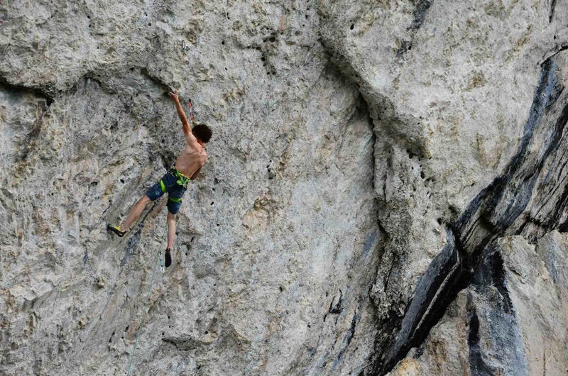 """Adam Ondra on <em>Torture Physique Integrale</em> (5.15a/b) Gastlosen. Photo by Inka Matouskova. """" /><strong>What can you say about this route? Perfect style for you?</strong></span><span style="""