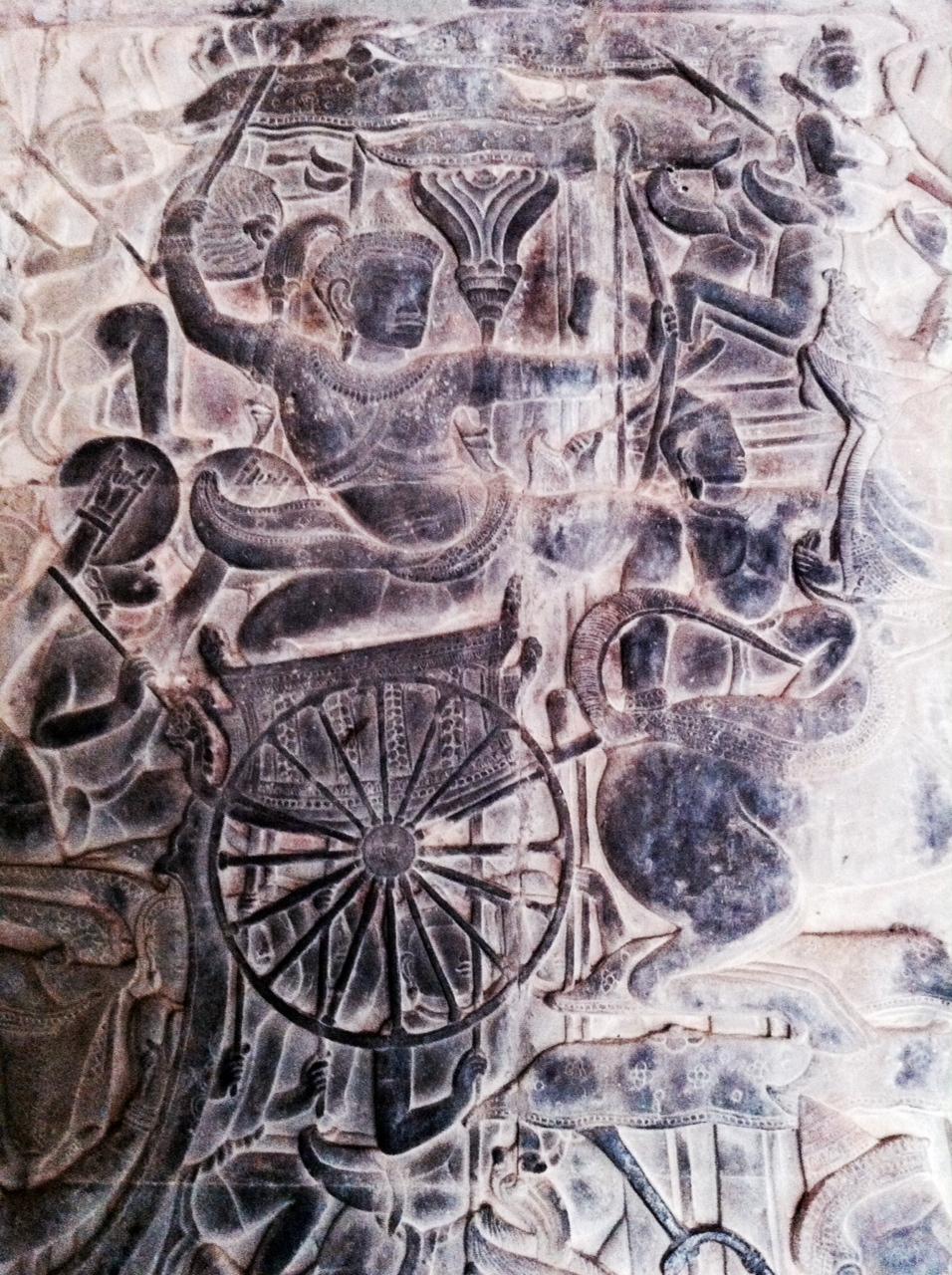 War Chariot, bas relief.
