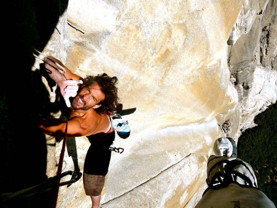 Eric Klimt, with his infectious smile, on the Salathé Wall, El Cap, Yosemite. Klimt redpointed 30 of the 35 pitches and rope-soloed all the other pitches clean except for the first pitch of the headwall. [Facebook photo]