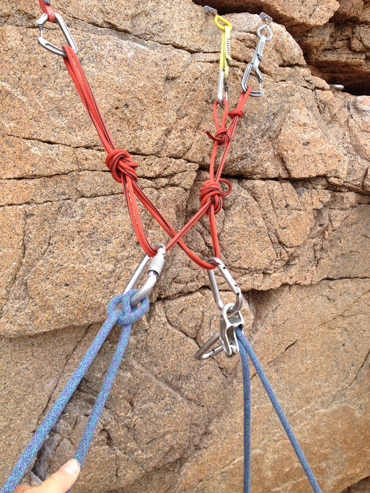 Having two masterpoints can be a huge benefit when on multi-pitch, traversing routes or when climbing with three or more people.