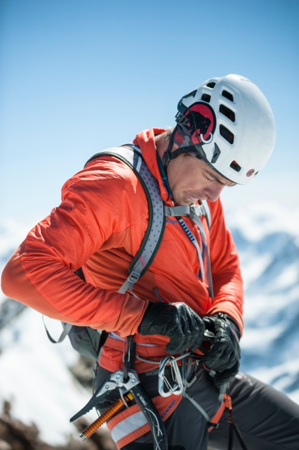 Swiss mountaineer Dani Arnold now holds speed records on Eiger North Face and Matterhorn North Face. Photo: Christian Gisi / Rainer Eder.