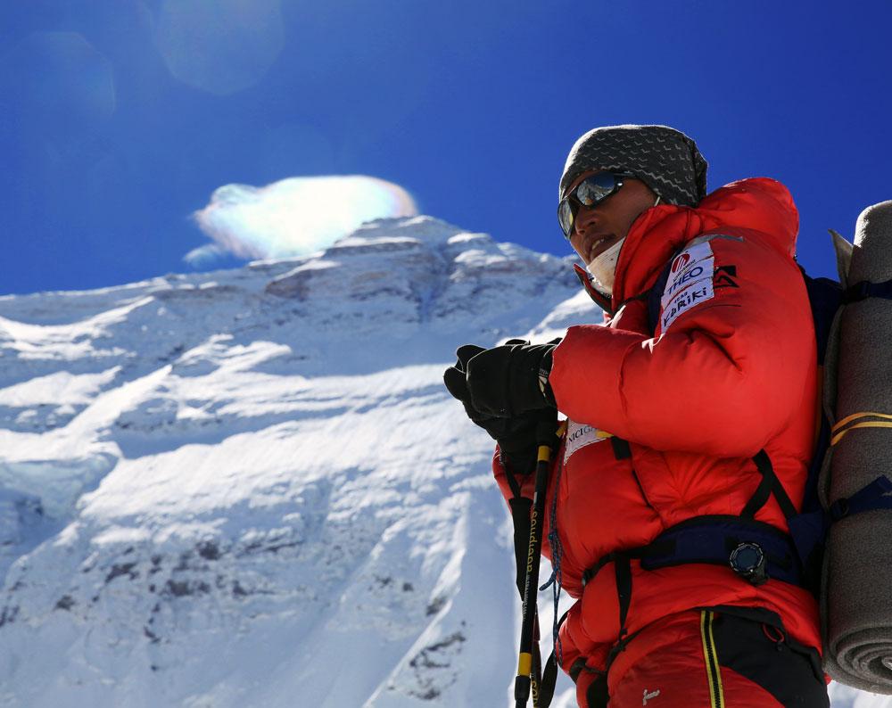 Norbukazu Kuriki attempts Everest in 2016. He turned back 4,600 feet from the summit. Photo courtesy of Norbukazu Kuriki.