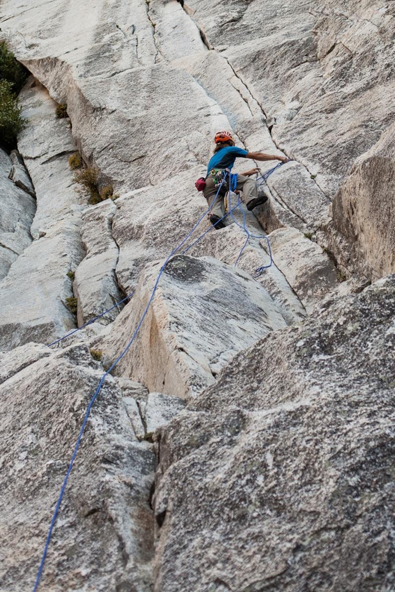 Lempe climbing Salathe.  Courtesy of Lempe.