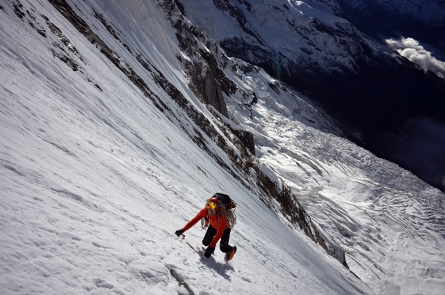 Ueli Steck on the South Face of Annapurna I. Photo courtesy of the Ueli Steck archive.