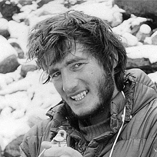 Marjan Manfreda at Makalu in 1975. <br />Photo: Aleš Kunaver collection.