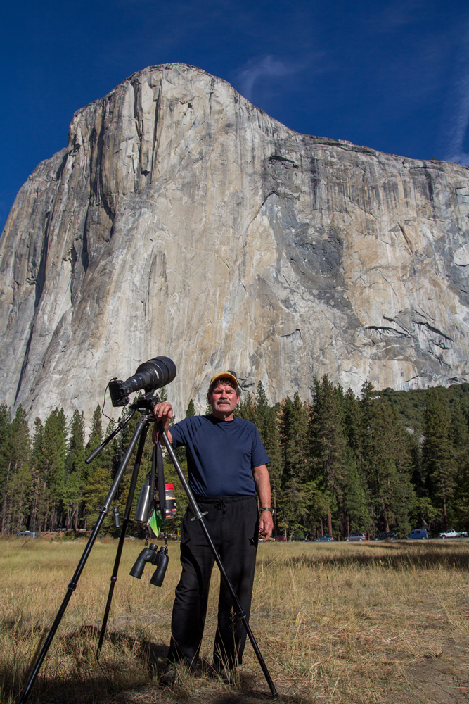 Tom Evans and camera beneath the Big Stone. Photo courtesy of Ted Distel.