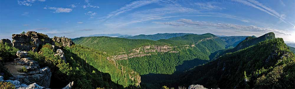 An early summer view of the Linville Gorge, North Carolina. Photo by Lynn Willis.