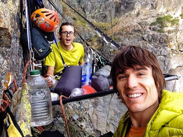 Lempe and Pringle at basecamp above pitch two on <em>The Constant Gardner</em>. Pringle posted this photo to Instagram explaining that this was his &#8220;first night ever on a portaledge.&#8221; Photo by Pringle.&#8221; />Cheyne Lempe and Ethan Pringle teamed up to establish a new, 1000-foot route on the north face of Higher Cathedral rock in Yosemite Valley, California. </p> <p>&#8220;It has been said that Yosemite is climbed out &#8230; which is true,&#8221; says Lempe, who at 23 years old is the youngest member of the Yosemite Search and Rescue team. &#8220;All of the mega splitter routes have already been climbed, but I have been inspired to learn the arduous process of new [obscure] route development.&#8221;</p> <p>Lempe found exactly what he was looking for after a friend encouraged him to check out Higher Cathedral&#8217;s north face.</p> <p>&#8220;I scrambled up a series of ledges to get a good vantage point of the wall, and spotted the beautiful line,&#8221; he says. &#8220;In all of the Yosemite guide books from 1993 to now, there is no information about this section of the wall.&#8221;</p> <p>Lempe planned to tackle the potential new route with rock-climbing extraordinaire Ethan Pringle, whom he says he had never roped up with but had watched climb before.</p> <p>&#8220;I first met [Pringle] when I rapped in to shoot photos when he nearly onsighted <em>Free Rider</em> (5.12d) on El Cap this spring, and it was wild watching such a high caliber climber move so fluidly up the wall,&#8221; says Lempe. &#8220;He has a lighthearted demeanor and a unique ability to diffuse potentially stressful situations, which makes him an incredible climbing partner.&#8221;</p> <p><img src=