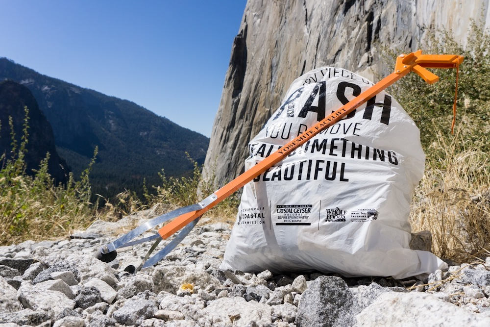 A total of 14,762 pounds of trash and asphalt was removed at this year's Yosemite Facelift. Photo: Gina Edwards.