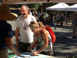 Lynn Hill, signing in during the 2015 Yosemite Facelift.