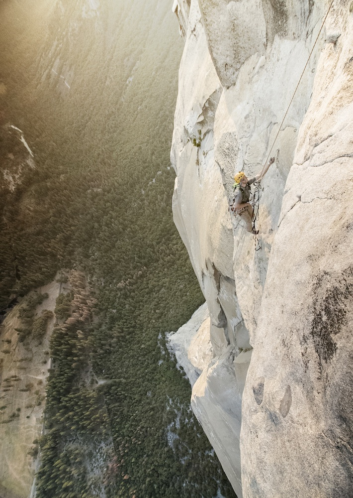 Lusk - first time on El Cap - learns to Jumar on the climb. Photo: Cheyne Lempe / Mountain Hardwear.
