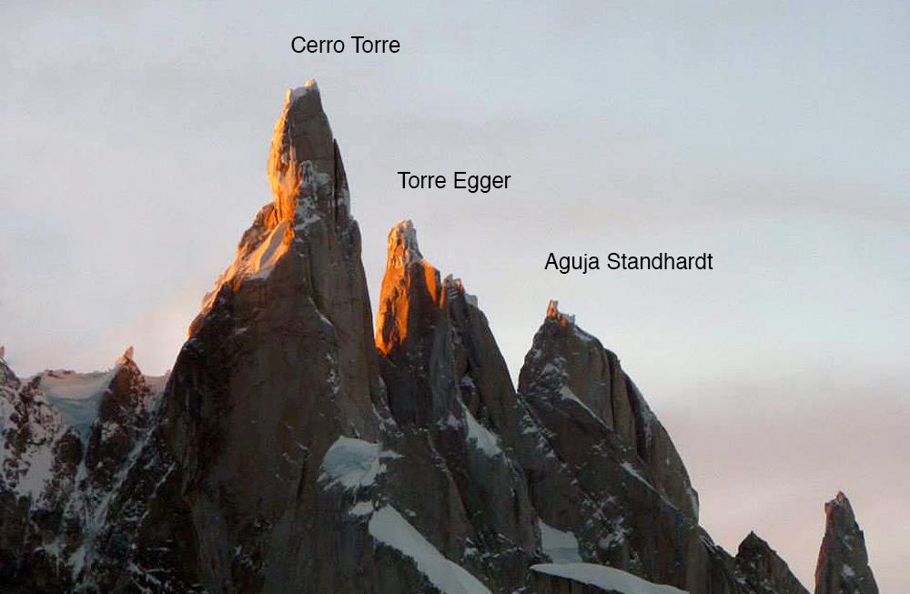 The Torre group, El Chaltén massif, Patagonia. Photo: Hayden Carpenter.