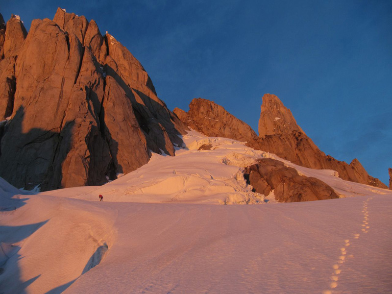 On the approach to Cerro Torre. Photo courtesy of Markus Pucher.