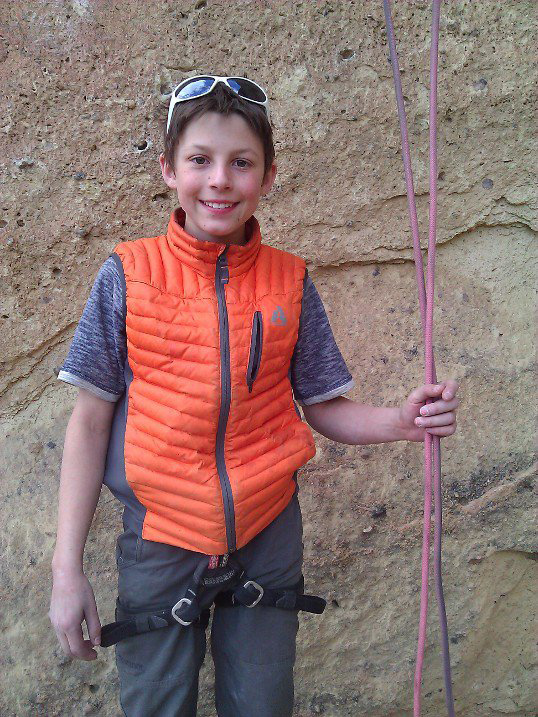 """Drew Ruana after sending <em>To Bolt or Not to Be</em> (5.14a) in Smith Rock, Oregon. Photo by Christine Ruana via Facebook. """" />Next-generation crusher Drew Ruana has climbed the iconic <em>To Bolt or Not to Be </em>(5.14a) at Smith Rock, Oregon. Ruana's father Rudy reports via Facebook that the send was totally unexpected.</p> <p>""""It was supposed to be a work session. Ian Yurdin encouraged him up…talking him up to the next 'good' hold.""""</p> <p>At just 13-years-old, Ruana's rock-climbing progression is astonishing. He has been on a sending spree lately, ticking off one Smith Rock testpiece after another. Prior to climbing<em>To Bolt</em>, Ruana had managed to send the Smith Rock classics<em>Scarface</em>,<em>Chemical Ali</em>, and<em>Mr. Yuk</em>, all of which hold the 5.14a grade.</p> <p><span style="""
