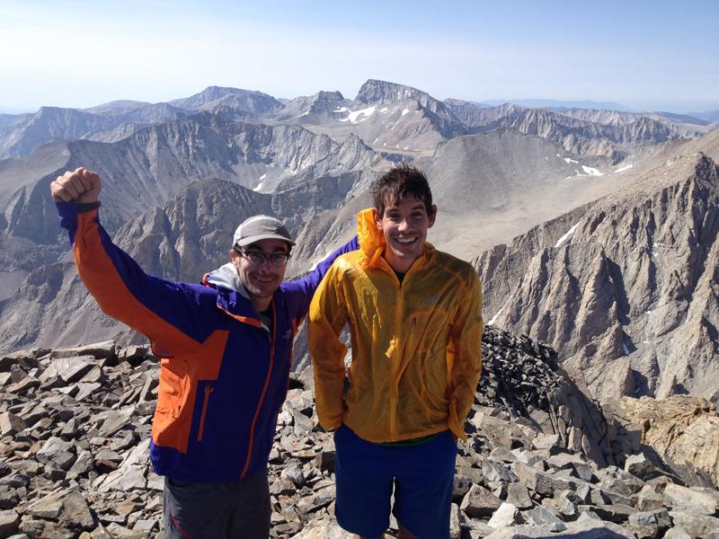 Honnold and Wright climbing in California. Photo courtesy Cedar Wright.