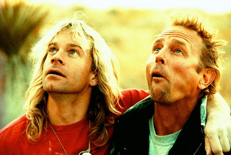 John Bachar (right) with his good friend Michael Reardon, in 2005. Photo: Boone Speed.