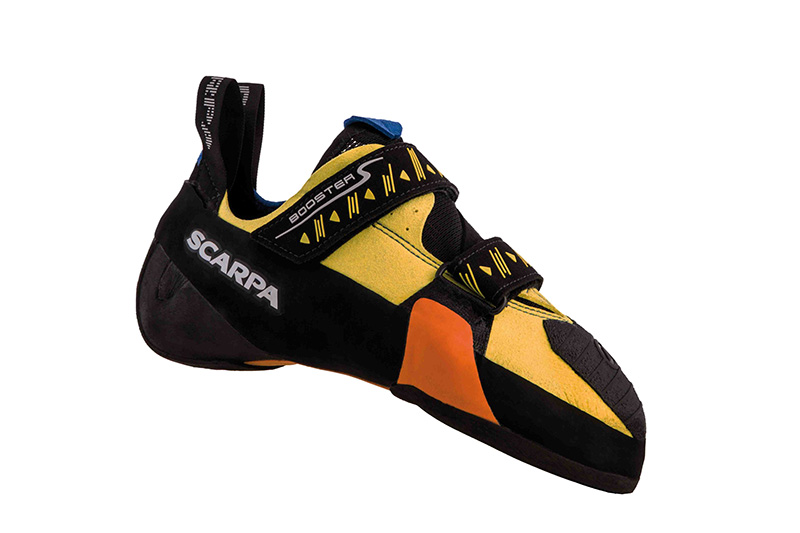 Heinz Mariacher's latest innovation in rock shoe design, the Scarpa Booster S.