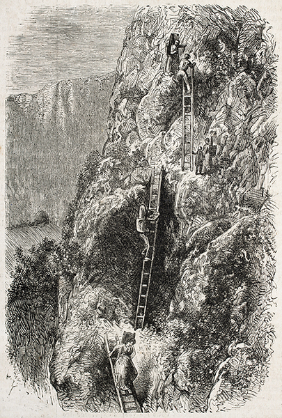 Climbing gear has certainly come a long way since the days of wooden ladder aid ascents!
