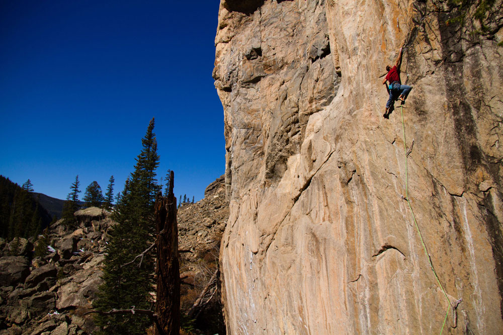 Author, coach, and pro climber, Mark Anderson on his new Independence Pass Testpiece, Insurrection (5.14c).