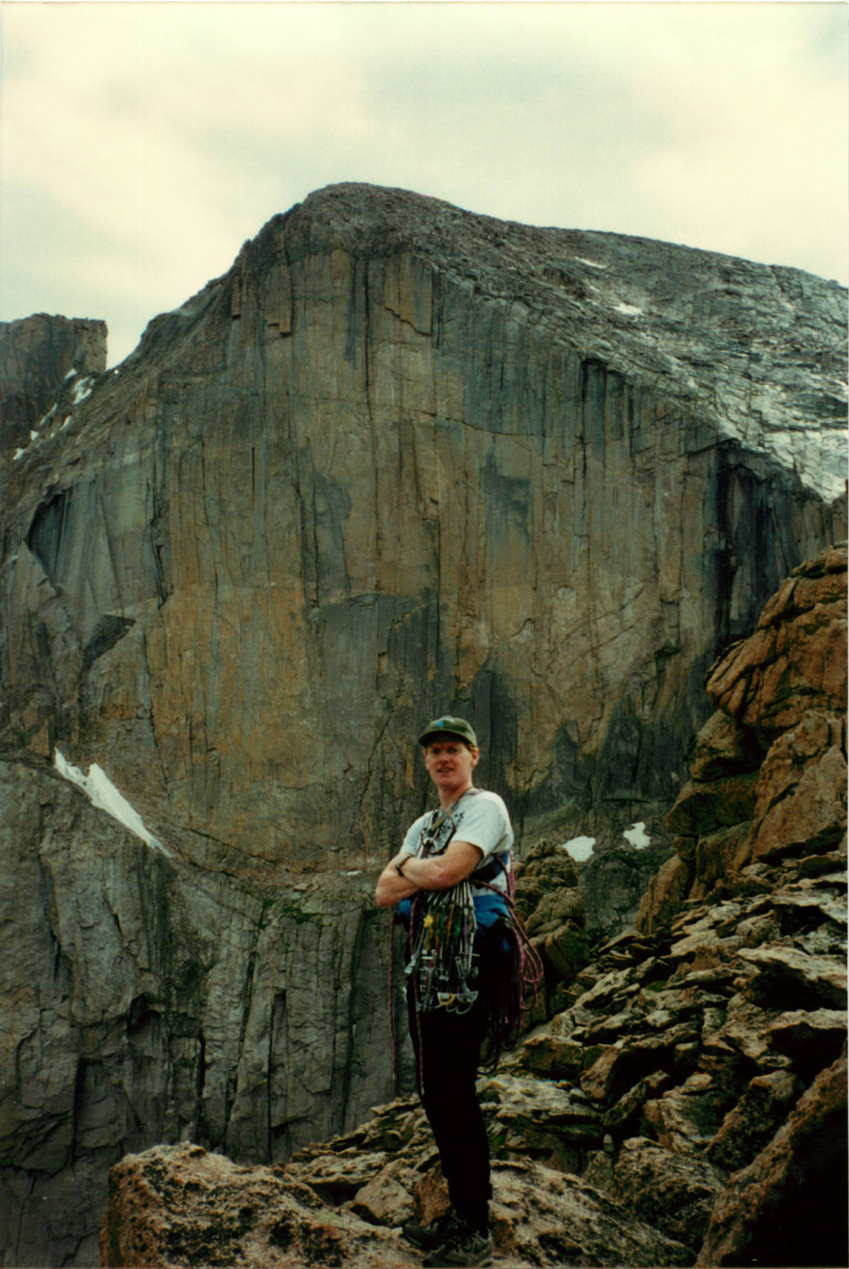 Jim Ghiselli before the Diamond, Longs Peak, Colorado. Photo courtesy of Becky Hall.