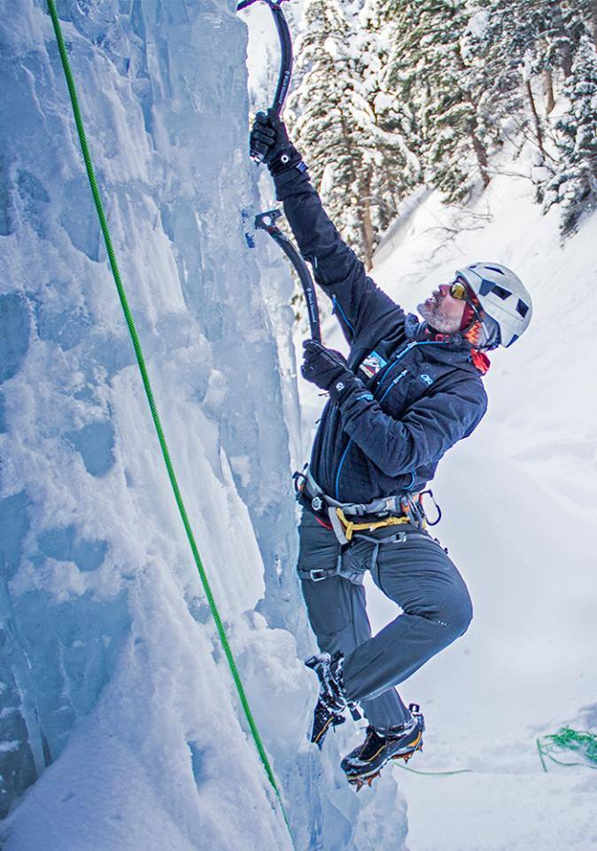 Mark Miller. Photo courtesy of the Ouray Ice Park.
