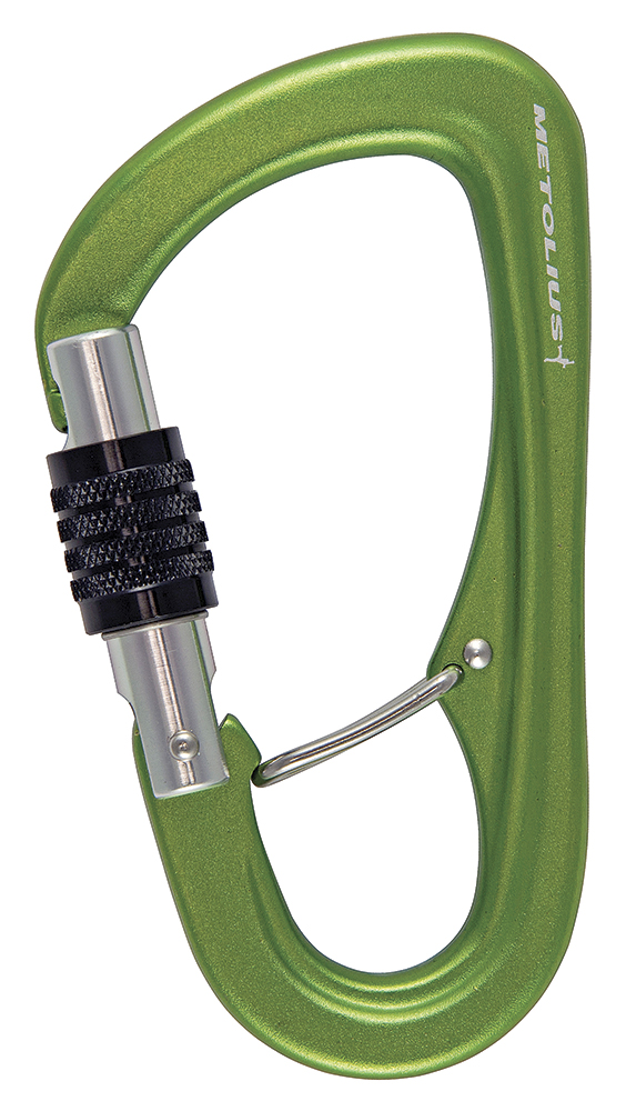 Metolius Gatekeeper uses a wire gate in the basket to reduce the chances of crossloading when belaying or rappelling.